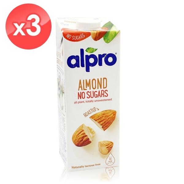 【ALPRO】無糖杏仁奶3瓶組(1公升*3瓶) 效期2021/04