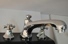【麗室衛浴】國產  銅鍍鉻 浴缸龍頭 3件式