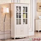 【大熊傢俱】杏之韓 HE018-2 韓式 二門書櫃 玻璃櫃 鄉村田園風 置物櫃 收納櫃 儲物櫃