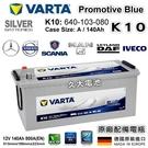 久大電池 德國進口 VARTA K10 12V 140Ah Promotive Blue 640 103 080