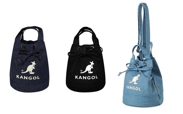 KANGOL 韓版玩色系列 帆布 牛仔 手提包 斜背水桶包  AKG1214