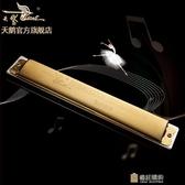 口琴天鵝24孔c調復音成人兒童初學入門口琴比賽演奏樂器 快速出貨