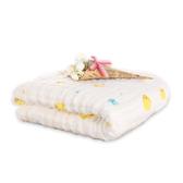 澎澎紗純棉6層紗布浴巾蓋毯 嬰兒多功能水洗印花紗布抱被 105*105CM-321寶貝屋