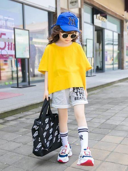 女童夏裝2019新款兒童裝短袖運動套裝中大童洋氣潮衣服女孩兩件套 嬌糖小屋