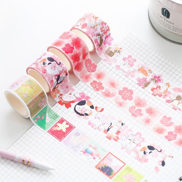 【BlueCat】櫻花柴犬猫咪和紙膠帶