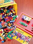 積木拼裝拼圖玩具益智周歲小顆粒拼插樂高女孩【極簡生活館】