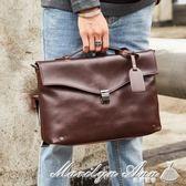 手提包 韓版新款男士手提包 復古潮流單肩包 商務斜跨文件包公文包 全網最低價