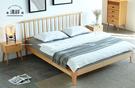 【新竹清祥傢俱】NBB-51BB05 北歐山毛櫸全實木床架(五呎) 簡約 臥室 床組 雙人床架