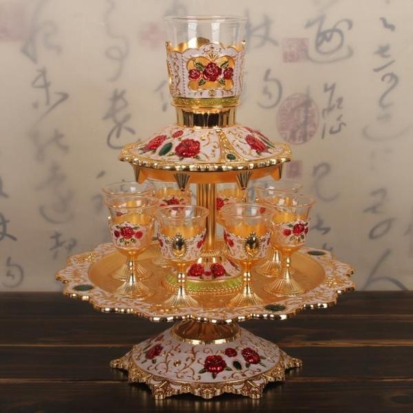 俄羅斯風情酒具套裝自動分酒器家用白酒小酒杯宮廷風水晶玻璃酒杯1入
