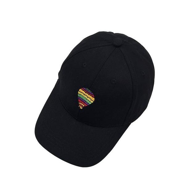 [超豐國際]韓版帽子女夏天刺繡氣球棒球帽夏季遮陽彎檐帽學生出1入
