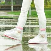 新品鞋套透明高筒雨靴套男女防滑水鞋成人戶外加厚耐磨防水雨鞋套