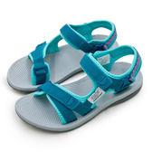 LIKA夢 LOTTO 輕量流行織帶運動涼鞋 街頭流行時尚系列 藍綠 6165 女