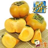 果之家 產地嚴選台中新社香濃多汁8A甜柿22斤