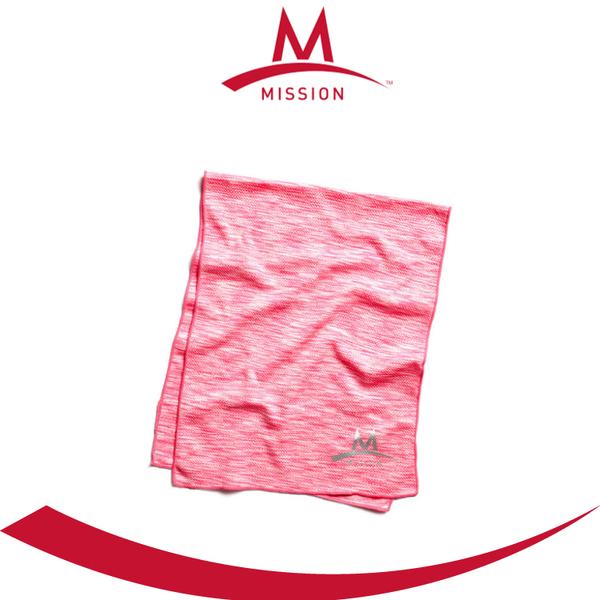 【Mission 急凍酷涼機能毛巾《粉紅》】107401/涼感巾/運動/路跑/登山/降溫/戶外/快乾/單車★滿額送