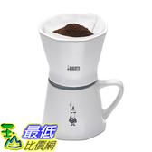 [美國直購] Bialetti 6750 2 Cup Porcelain Pourover Coffee Dripper with Mug, White 滴漏式 咖啡濾杯