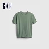 Gap男童 活力亮色透氣短袖T恤 682081-淺綠色