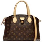 【Louis Vuitton 路易威登】M44543 RIVOLI PM經典花紋手提/斜背兩用包(咖啡色)