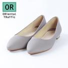 素色舒適百搭平底鞋-簡約灰(8602_G...