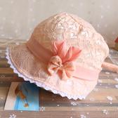 店長推薦★嬰兒帽子3-6-12月夏遮陽帽春季薄帽太陽帽~