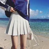 百褶裙女學生半身裙短款夏季大碼a字短裙子【洛麗的雜貨鋪】