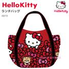asdfkitty可愛家-KITTY x MANUFATTO 紅色滿版蝴蝶結大容量帆布手提袋/托特包-日本正版商品