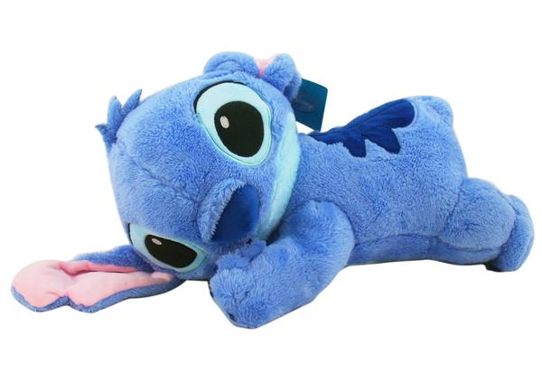 【卡漫城】 Stitch 長約40cm 趴姿 玩偶 ㊣版 絨毛娃娃 靠枕 靠腰墊 枕頭 史迪奇 星際寶貝 長條抱枕