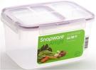 康寧密扣氣密式保鮮盒-紫色六格式(2.6L)