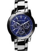 Relax Time 時尚達人日曆顯示手錶- 藍x黑 R0800-16-07X