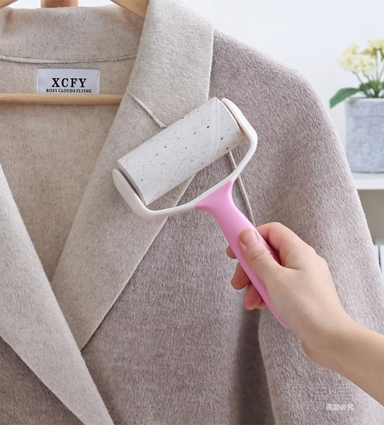 尺寸超過45公分請下宅配衣服沾毛神器滾筒式氈毛器毛衣粘毛器可撕式滾筒卷紙沾毛滾