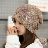 頭巾月子帽夏季薄款孕產婦帽子女正韓套頭帽女防風春秋頭巾帽產後用品