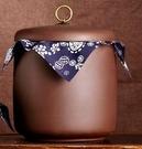 茶葉罐 宜興紫砂茶葉罐大碼號普洱茶桶密封醒茶器陶瓷家用缸七子餅存儲罐【快速出貨八折下殺】