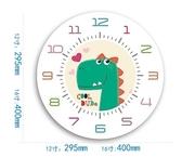 恐龍A款靜音機芯16英寸靜音動物時鐘簡約鐘錶臥室兒童房掛鐘北歐石英鐘  JQ