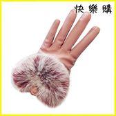 騎行手套 真兔毛皮手套可愛加絨加厚保暖防寒手套機車手套