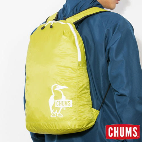 CHUMS 日本 可收納後背包 萊姆綠 CH602258M014