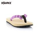 SOURCE 女夾腳拖鞋Djibouti 104012TP【紫】/ 城市綠洲(織帶、輕量、快乾、抑菌、人字拖)