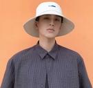 漁夫帽男帽子夏季款潮牌嘻哈日系大頭圍遮陽帽男士大檐防曬太陽帽 3C優購