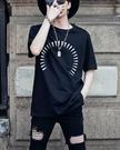 FINDSENSE H1夏季 新款 韓國 街頭 原宿 背後惡搞人物印花 時尚 寬