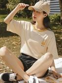 短袖t恤女夏季2020年新款假兩件韓版寬鬆純棉半袖網紅ins潮上衣服 新品上新