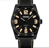時刻美男士大錶盤石英手錶防水簡約商務男錶時尚個性皮帶指針腕錶-享家