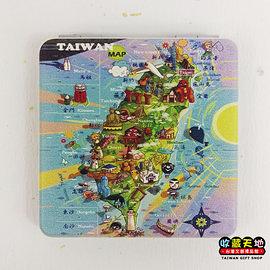 【收藏天地】台灣紀念品*雙面隨身鏡-Taiwan MAP ∕小物 送禮 文創 風景 觀光  禮品