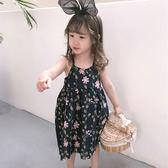 花朵細肩帶棉紗洋裝 肩帶可調  橘魔法 Baby magic 現貨 中小童 童裝 女童