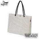 手提袋-編織袋(L)-灰白-01C