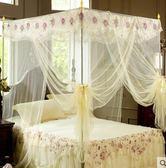 蚊帳2018蚊帳1.5米1.8m床雙人家用1.2落地支架加密加厚三開門紋帳igo 伊蒂斯女裝