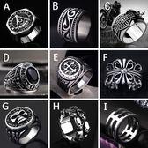 戒指霸氣男士戒指潮人復古食指鈦鋼韓版個性百搭指環扳指男戒    伊芙莎
