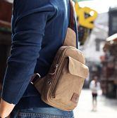 男士胸包日韓運動背包休閒帆布單肩包腰包男包包學生斜背包側背包【全館免運】