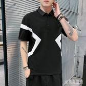 大碼短袖POLO衫男裝百搭上衣丅半袖時尚氣質有帶領男士潮流t恤 yu13504『寶貝兒童裝』