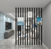 屏風 北歐客廳鐵藝高隔斷墻簡約現代臥室立柱屏風中式入戶裝飾豎條玄關