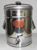 [ 家事達 ] 台灣 金龍-不鏽鋼 白鐵茶桶 20cm  謝謝