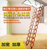 艾達室內外閣樓伸縮樓梯摺疊收縮手動升降隔層家用隱形梯子 陽光好物