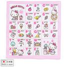Hello Kitty手帕 日製英文字母棉質手帕/紗布巾 [喜愛屋]